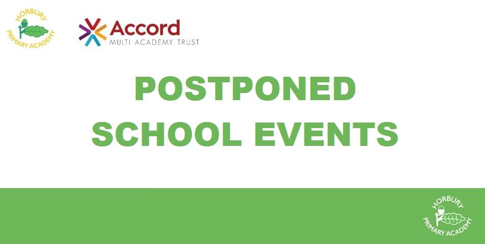 UPDATED - Postponed School Events