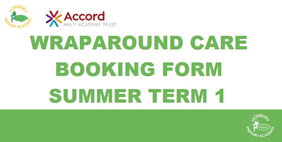 Wraparound Care Bookings for Summer Term 1: Breakfast Club & After School Club